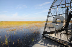 Airboat in the Everglades royalty free stock photo