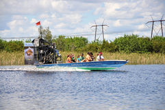 Airboat at everglades Stock Photos