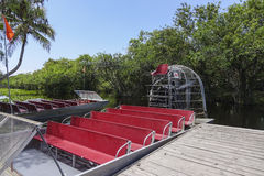 Airboat in the Everglades Florida - MIAMI, FLORIDA APRIL 11, 2016 Royalty Free Stock Photo