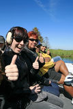 On the Airboat Stock Image