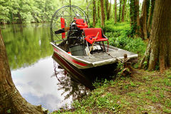 Airboat on Greenfield Lake Stock Photo