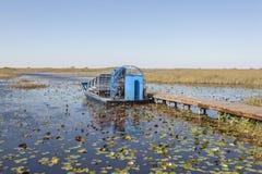 Airboat nei terreni paludosi, Florida Fotografia Stock Libera da Diritti