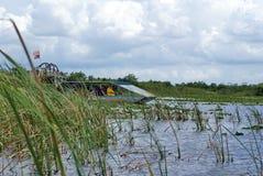 Airboat no parque nacional dos marismas, Florida sul Imagens de Stock Royalty Free