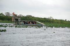 Airboat no parque nacional dos marismas, Florida sul Foto de Stock Royalty Free