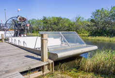 Airboat nos marismas, Florida Foto de Stock Royalty Free