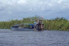 Airboat nos marismas parque nacional, Florida, EUA Fotos de Stock Royalty Free