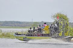 Airboat ride tour of St.John River in Florida, USA. Airboat ride passenger boat tour of St.John River in Florida, USA stock photos