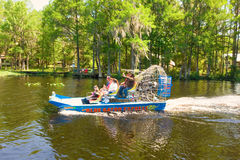 An airboat ride on a sunny day in florida Stock Photo