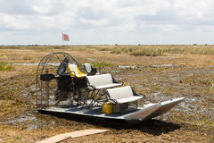 Airboat, terreni paludosi Fotografia Stock
