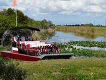 Airboat for Tours on Florida Lake Stock Photography