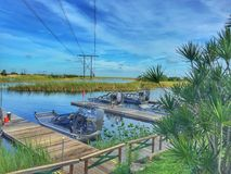 Airboats Stockbild
