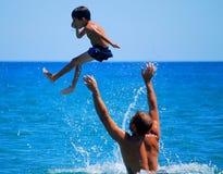 ¡Airborn del niño! Fotografía de archivo libre de regalías