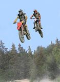 Airborne. Moto cross action from massey ontario Royalty Free Stock Photo