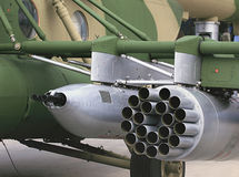 Airborne armament of the attack  helicopter Stock Images