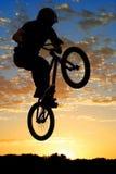 Airborne bikes Stock Photo