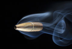 Airborne bullet Royalty Free Stock Images