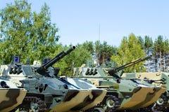 Airborne combat vehicles Stock Image