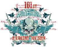 Airborne division. Vector illustration ideal for printing on apparel clothing Royalty Free Stock Photos