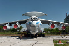 Airborne early warning aircraft. Radar aircraft A-50, aviation plant, Taganrog, Russia, May 17, 2014 Royalty Free Stock Images