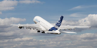 A380 Airborne Stock Images