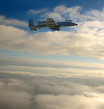 Airborne jetfighter Royalty Free Stock Images