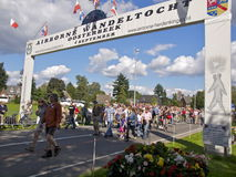 Airborne March Oosterbeek arc Stock Photography