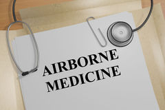 Airborne Medicine - medical concept Stock Image