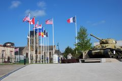 Airborne Museum Sainte-Mère-Église. The Airborne Museum Musée Airborne is a French museum dedicated to the memory of American paratroopers of the 82nd royalty free stock image