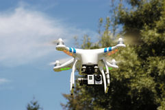 Airborne quadcopter Royalty Free Stock Photography