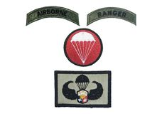 Airborne Ranger Wings patches, Philippines, Isolated stock photo