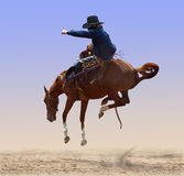 Airborne Rodeo Bronco royalty free stock photos
