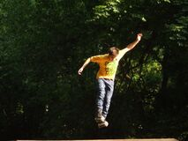 airborne-roller-boy Royalty Free Stock Images
