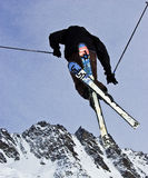 Airborne Skier Royalty Free Stock Photo