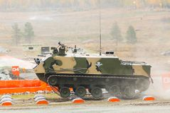 Airborne tracked armoured personnel carrier Stock Photos