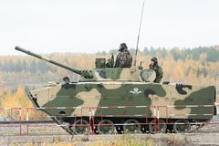 Airborne tracked armoured vehicle BMD-4M Royalty Free Stock Photos