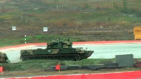 Airborne tracked armoured vehicle BMD-4M stock video footage