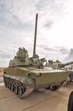 Airborne tracked armoured vehicle BMD-4M. Nizhniy Tagil, Russia - September 25 2013: Visitors examine military equipment on exhibition range.Airborne tracked Royalty Free Stock Photos