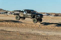Airborne truck at the River Rage at Laughlin, Nevada stock photo