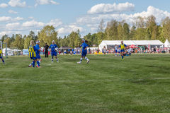 Airbound soccer Royalty Free Stock Photos