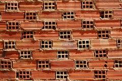 Airbrick brick brickwall texture wall pattern Stock Images