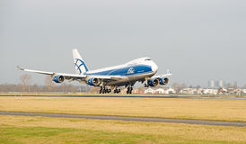 Airbridge cargo airlines boeing 747 428ERF Royalty Free Stock Images