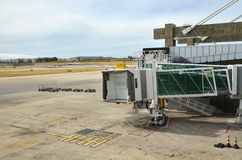 Airbridge and Taxiway Royalty Free Stock Photo