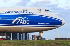 AirBridgeCargo 747 Fotografie Stock Libere da Diritti