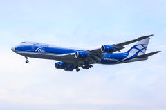 AirBridgeCargo 747-8 Foto de Stock Royalty Free