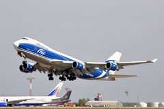 AirBridgeCargo Boeing 747 Fotografia de Stock Royalty Free
