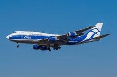 AirBridgeCargo Boeing 747 Fotos de Stock
