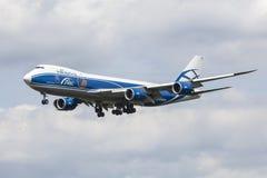 AirBridgeCargo Boeing 747-8F Foto de Stock