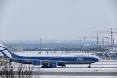 AirBridgeCargo Boeing 747-8F VP-BBP Fotografia de Stock