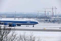 AirBridgeCargo Boeing 747-8F VP-BBP Imagens de Stock