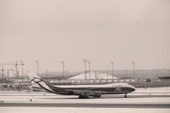 AirBridgeCargo Boeing 747-8F VP-BBP Imagem de Stock